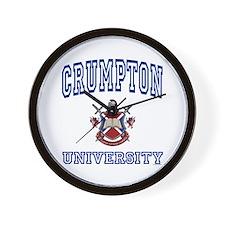 CRUMPTON University Wall Clock