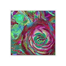 """Beautiful Rose Square Sticker 3"""" x 3"""""""