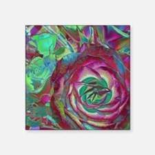 "Beautiful Rose Square Sticker 3"" x 3"""