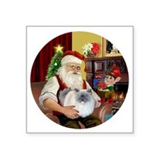 "Santa - Himalayan Cat (smok Square Sticker 3"" x 3"""