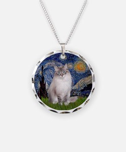 Starry Night - Ragdoll Cat ( Necklace