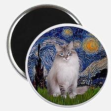 Starry Night - Ragdoll Cat (Lilac bi) Magnet