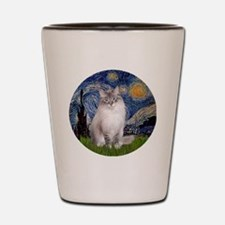 Starry Night - Ragdoll Cat (Lilac bi) Shot Glass