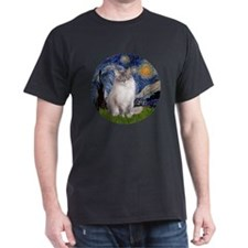 Starry Night - Ragdoll Cat (Lilac bi) T-Shirt