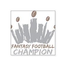 """Fantasy Football Champion Square Sticker 3"""" x 3"""""""