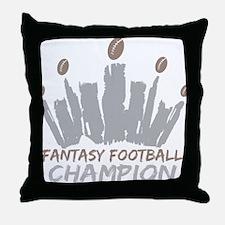 Fantasy Football Champion Throw Pillow