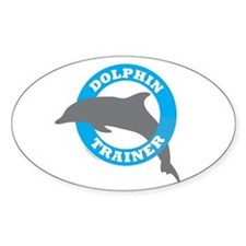 Dolphin Trainer Oval Decal