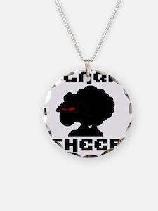 Transparent blaQk Sheep Logo Necklace