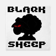 Transparent blaQk Sheep Logo Queen Duvet