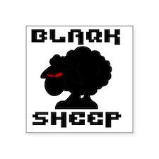 "Transparent blaQk Sheep Log Square Sticker 3"" x 3"""