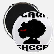 Transparent blaQk Sheep Logo Magnet