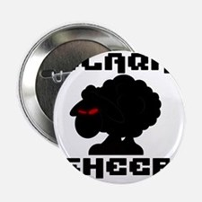 "Transparent blaQk Sheep Logo 2.25"" Button"