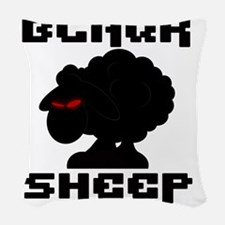 Transparent blaQk Sheep Logo Woven Throw Pillow