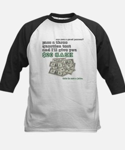 3 question (with cash) Kids Baseball Jersey