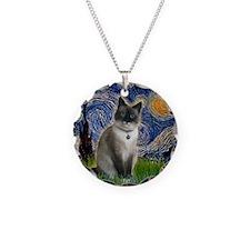 Starry - Snow Shoe Cat Necklace