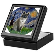 Starry - Snow Shoe Cat Keepsake Box