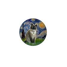 Starry - Snow Shoe Cat Mini Button