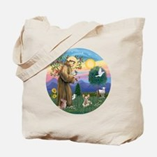 St Francis - Sphynx cat Tote Bag
