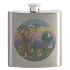 St Francis - Sphynx cat Flask