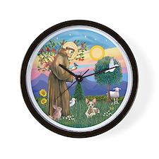 St Francis - Sphynx cat Wall Clock