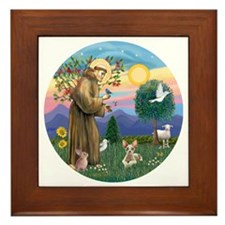 St Francis - Sphynx cat Framed Tile