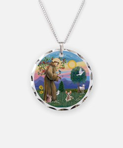 St Francis - Sphynx cat Necklace