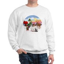 Treat for two Siamese cats Sweatshirt