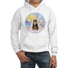 Clouds - Tabby cat angel Hoodie