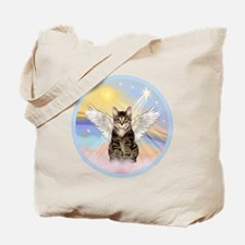 Clouds - Tabby cat angel Tote Bag