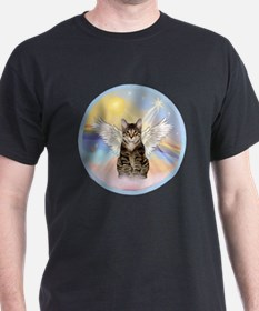 Clouds - Tabby cat angel T-Shirt