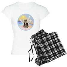 Clouds - Tabby cat angel Pajamas