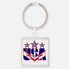 Stars and stripes Square Keychain
