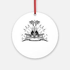 Haiti Coat Of Arms Round Ornament