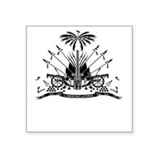 "Haiti Coat Of Arms Square Sticker 3"" x 3"""