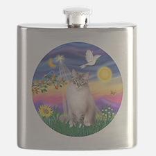 Twilight - Ragdoll (Lilac Bi Color Lynx) Flask
