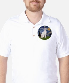 Starry Night - Siamese Cat (LilacPt) Golf Shirt