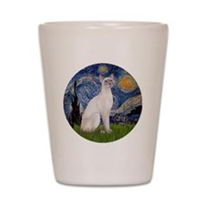 Starry Night - Siamese Cat (LilacPt) Shot Glass