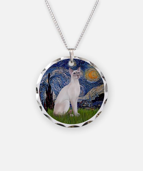 Starry Night - Siamese Cat ( Necklace