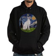 Starry Night - Siamese Cat (LilacPt) Hoodie