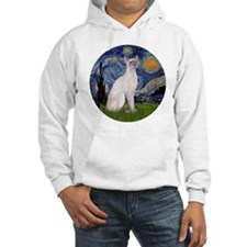 Starry Night - Siamese Cat (Lila Hoodie