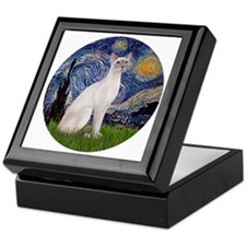 Starry Night - Siamese Cat (LilacPt) Keepsake Box