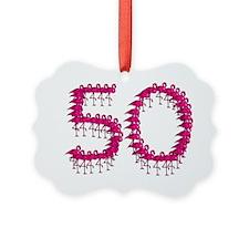 Flamingo Fifty Festive Fun for th Ornament