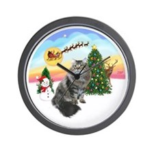 Take Off - SIberian cat. Wall Clock