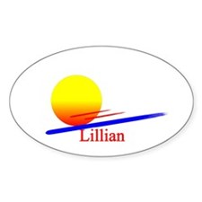 Lillian Oval Decal