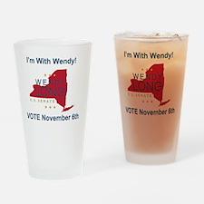 Wendy Long Tee Shirt Design Drinking Glass