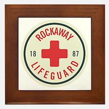 Rockaway Lifeguard Patch Framed Tile
