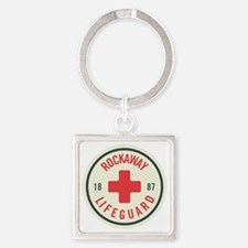 Rockaway Lifeguard Patch Square Keychain