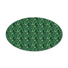 Aby-a-Day TikiGreen Oval Car Magnet