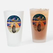 XAngel-BengalCat1 Drinking Glass