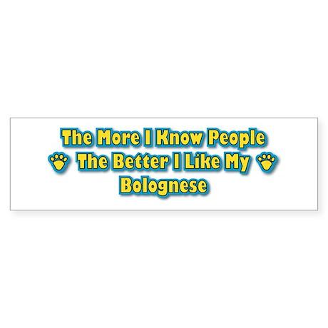 Like Bolognese Bumper Sticker
